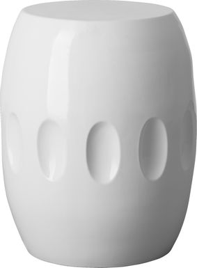 Tabrez White Outdoor Stool