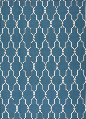 Taliya Navy 8' x 11' Indoor/Outdoor Rug