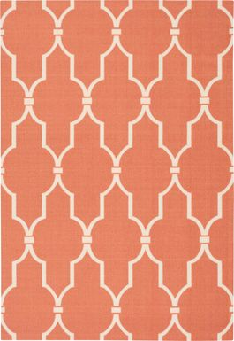 Taliya Orange 5' x 8' Indoor/Outdoor Rug