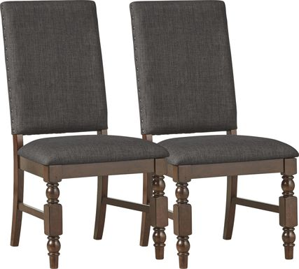 Tallmadge Dark Gray Side Chair (Set of 2)