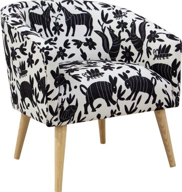 Tamesi Black Accent Chair