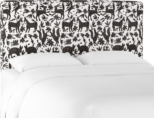 Tamesi Black Queen Upholstered Headboard