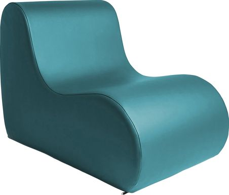 Kids Tamiko Turquoise Large Chair