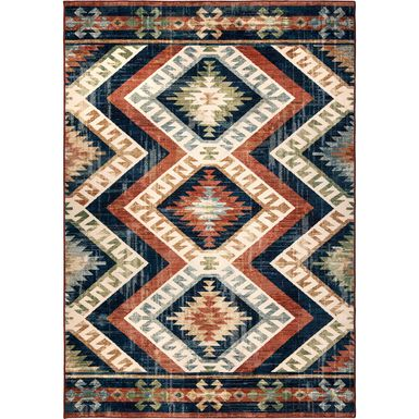 Tapestry Lane Red 7'10 x 10' Rug