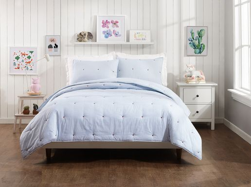 Taraya Blue 3 Pc Full/Queen Comforter Set