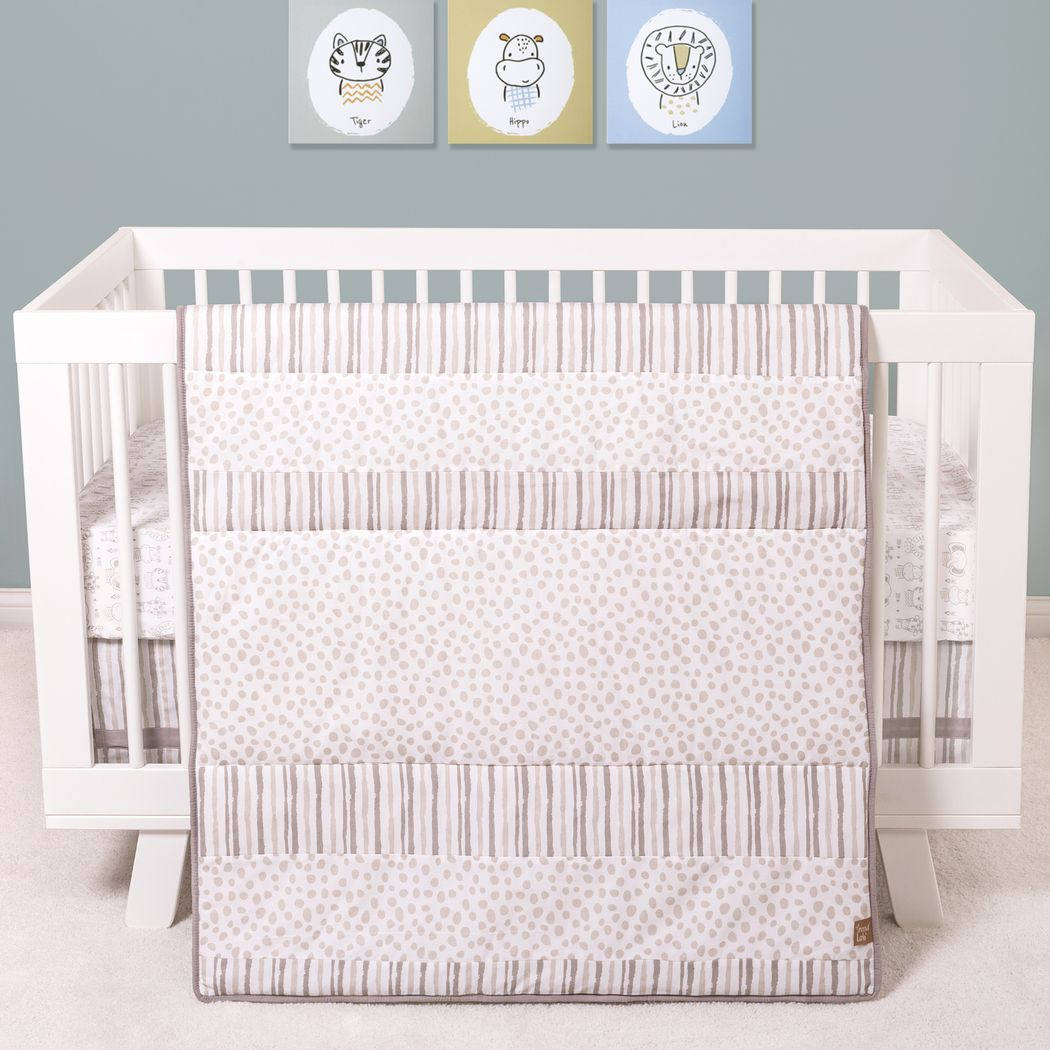 Tarian Gray 3 Pc Baby Bedding Set