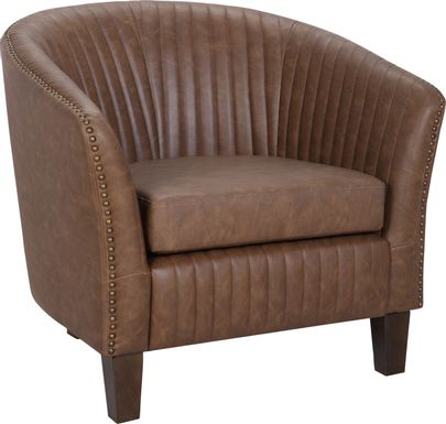 Tarlton Brown Accent Chair