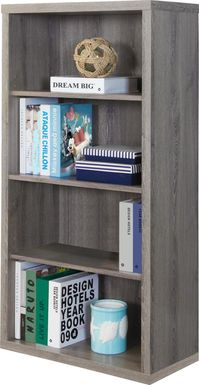 Tarpley Taupe Bookcase