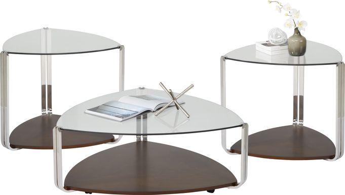 Tasley Walnut 3 Pc Table Set