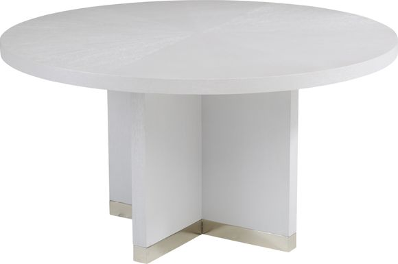 Taylor Trace White Round Dining Table