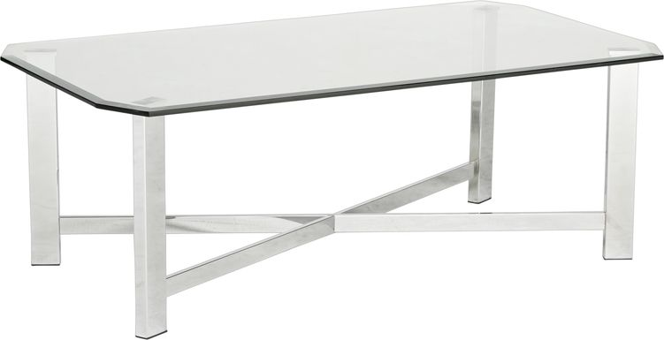 Teagan Chrome Cocktail Table