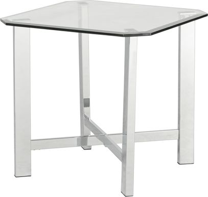 Teagan Chrome End Table