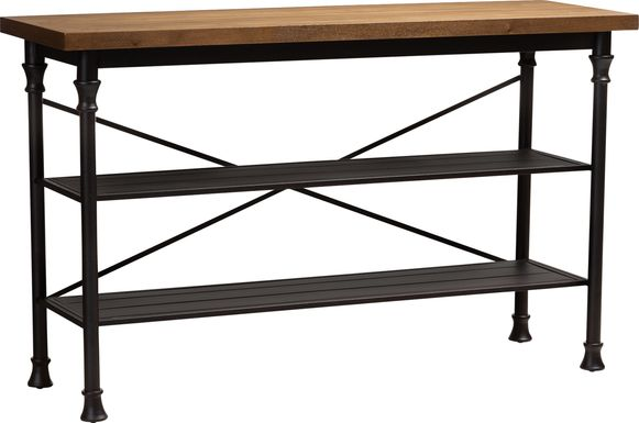 Tebon Brown Bar Cart