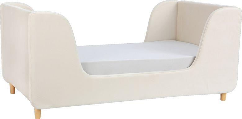 Tegen Almond Upholstered Toddler Bed