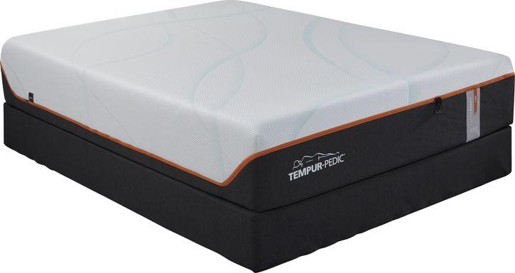 TEMPUR-LUXEbreeze Firm Low Profile Queen Mattress Set