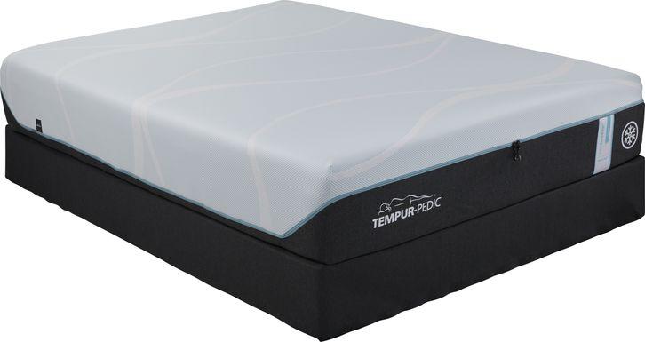 TEMPUR-PRObreeze Medium Hybrid Low Profile Queen Mattress Set