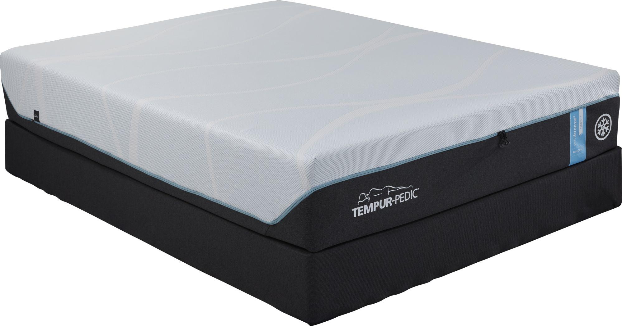 TEMPUR-PRObreeze Medium Low Profile King Mattress Set