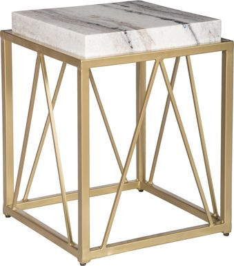 Ternian Gold Accent Table