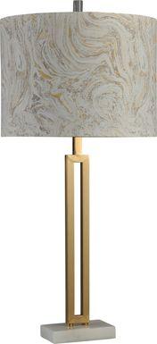 Tesmonde Gold Lamp