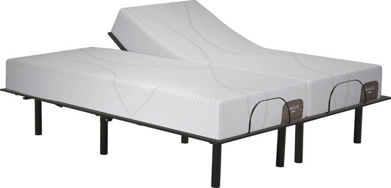 Therapedic Ariel Split King Mattress with RTG Sleep 2000 Adjustable Base