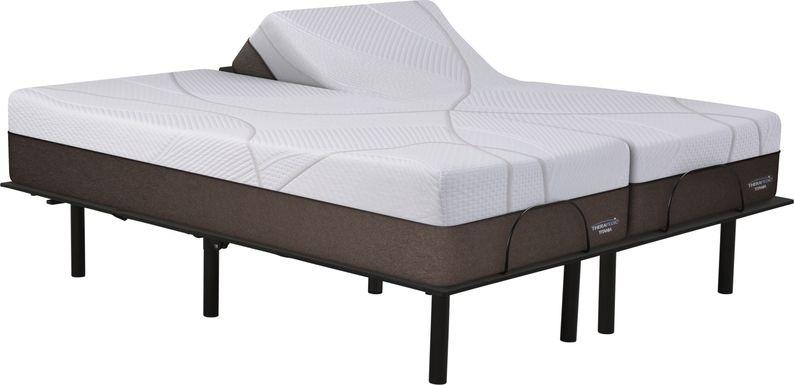 Therapedic Titania Split King Mattress with RTG Sleep 2000 Adjustable Base