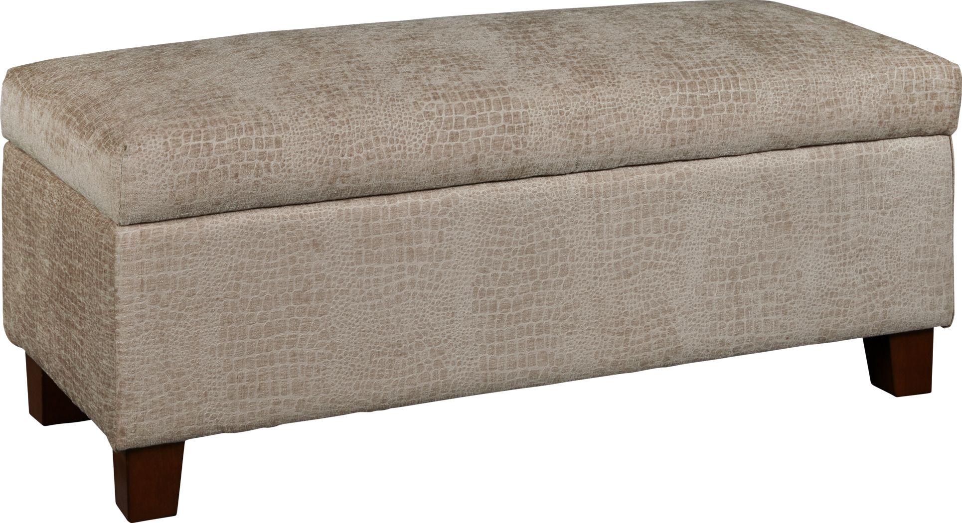 Thoburn Taupe Bench