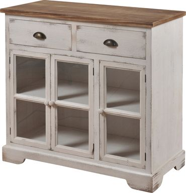 Thornfield White Accent Cabinet