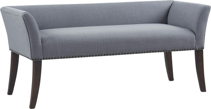 Threepine Blue Accent Bench