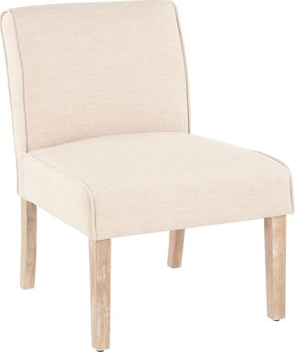 Tibwin Beige Accent Chair