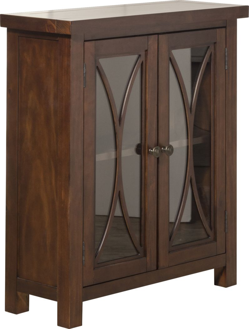 Tiflin Mahogany Two Door Accent Cabinet