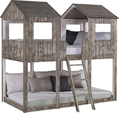 Timber Hideaway Beige Twin/Twin Bunk Bed