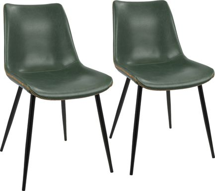 Tobin Green Dining Chair (Set of 2)