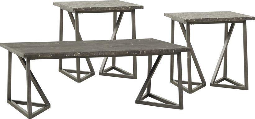 Tobyn Silver 3 Pc Table Set