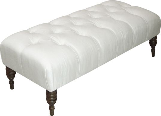 Tocarra Pearl Tufted Bench
