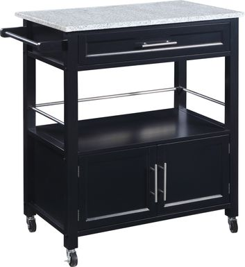 Tomafield Black Bar Cart