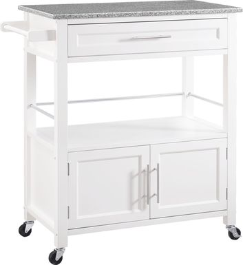 Tomafield White Bar Cart