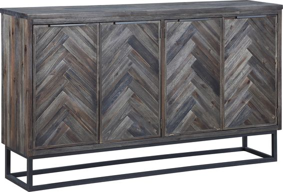 Torbay Brown Four Door Credenza