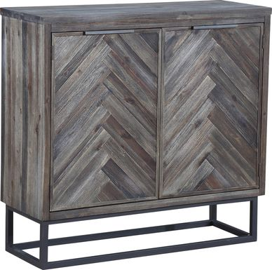 Torbay Brown Two Door Accent Cabinet
