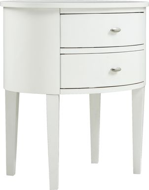 Torey White Accent Table