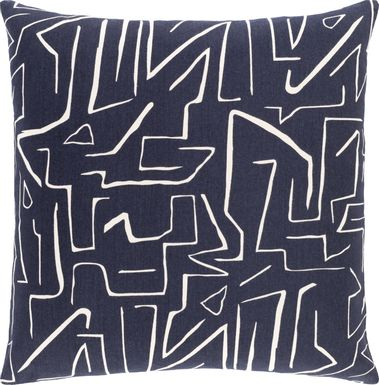 Toria Black Accent Pillow