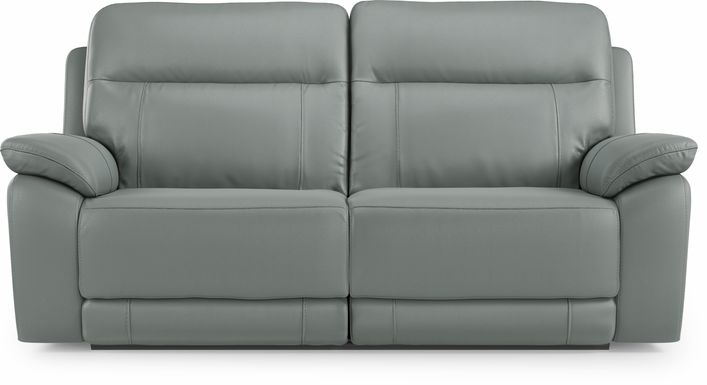 Torini Blue Leather Reclining Sofa