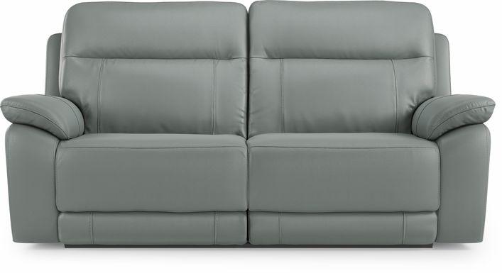 Torini Blue Leather Reclining Sofa