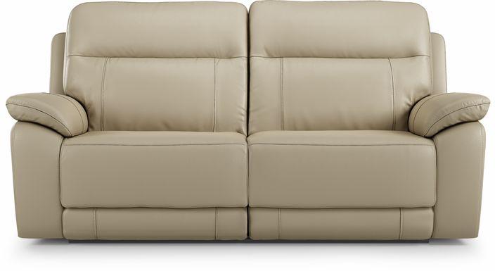 Torini Cream Leather Power Reclining Sofa