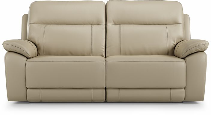 Torini Cream Leather Reclining Sofa