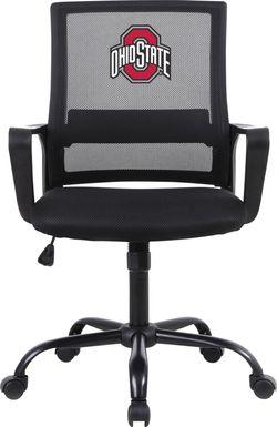 Tough Match NCAA Ohio State Black Desk Chair