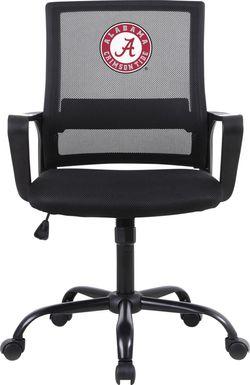 Tough Match NCAA University of Alabama Black Desk Chair