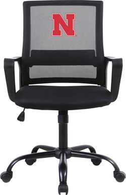 Tough Match NCAA University of Nebraska Black Desk Chair