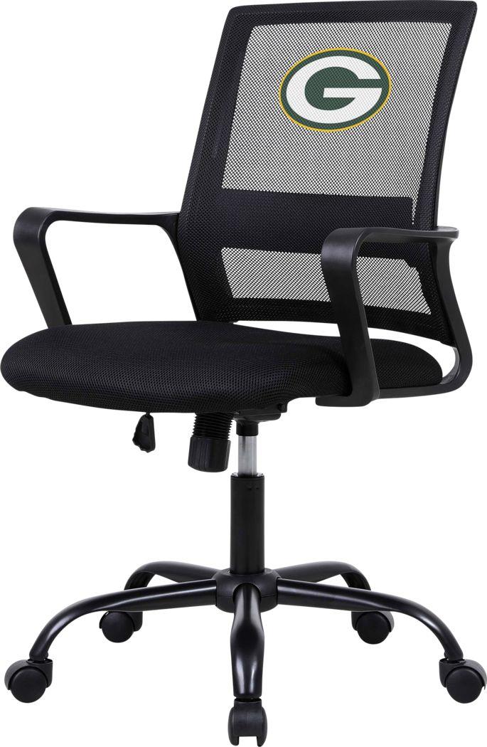 Tough Match NFL Green Bay Packers Black Desk Chair
