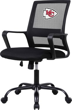 Tough Match NFL Kansas City Chiefs Black Desk Chair