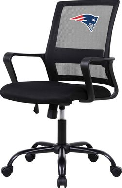 Tough Match NFL New England Patriots Black Desk Chair